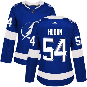 Authentic Adidas Women's Charles Hudon Tampa Bay Lightning Home Jersey - Blue